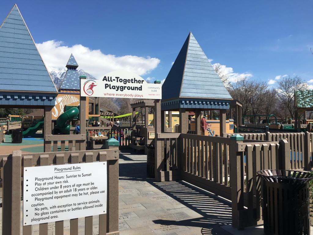 The all-abilities playground in Orem, Utah, gives children with disabilities a way to play alongside their peers.